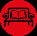 Literatur auf der Parkbank -